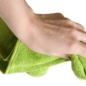 Wiping With Fabric Cloth