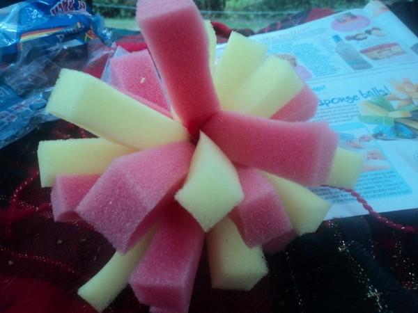 how to make sponge balls