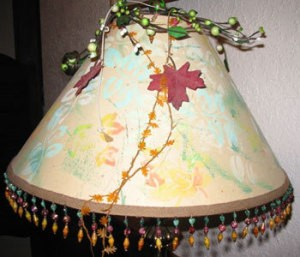 Decorating LampShades to LookOutdoorsy