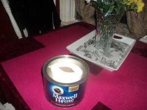 TP in a Maxwell House Can