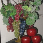 Decorative grape arrangement.