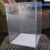 Large clear rectangular container.