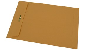 Manila Envelope on White Background