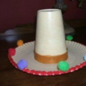 A sombrero craft for Cinco de Mayo