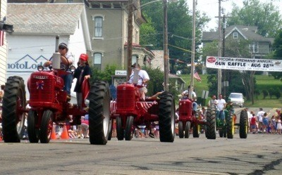 Tractors in Memorial Day Parade