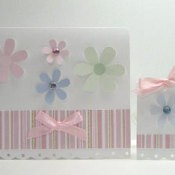 Paper Craft Gift Set - Card and tag.