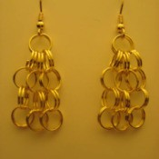 Set of earrings without the added dangles.