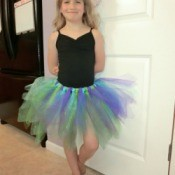 Finished no-sew Tutu.