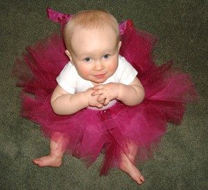 No sew tutu for a baby.