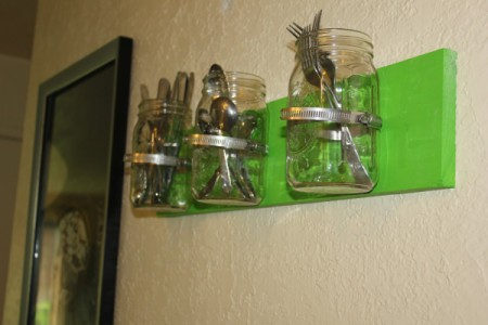 Utensil Holder mounted on wall