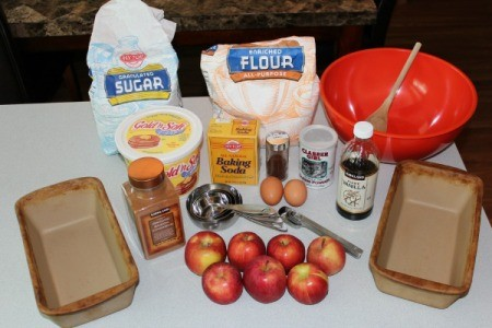 Ingredients for Chris' Apple Bread