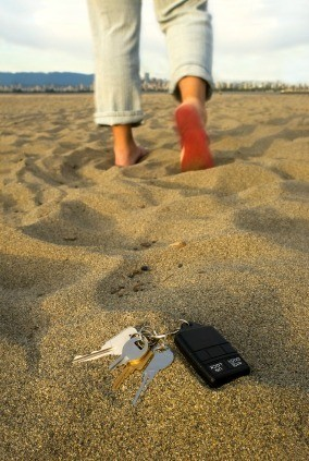 Lost Keys on Beach