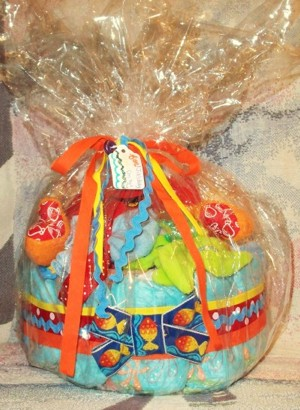 Little Swimmers Diaper Cake