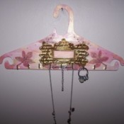 Decorated Wooden Jewelry Hanger