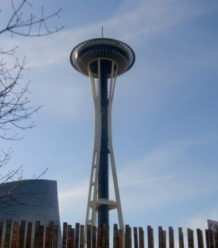 View of the space needle.