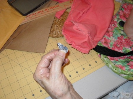 Sewing on Buttons for Crafts with a needle threader
