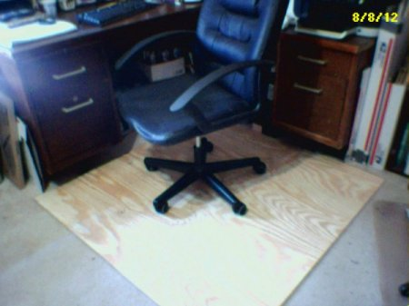 plywood chair mat