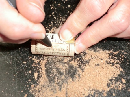 cut cork in half