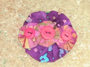 Finished yo yo barrette.