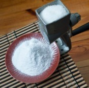 A sugar mill making powdered sugar.