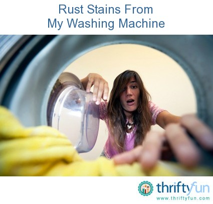 rust stains from washing machine