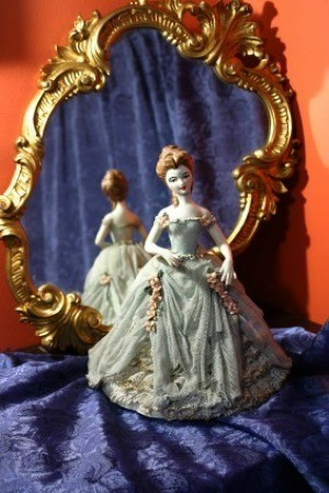 A porcelain doll from the 1950s.