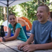 Children Laughing in Campground