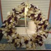 tan and brown rag wreath