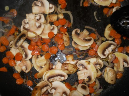 adding mushrooms