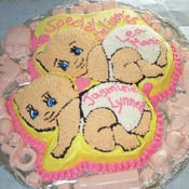 Baby Shower Cake for Mom Expecting Twins