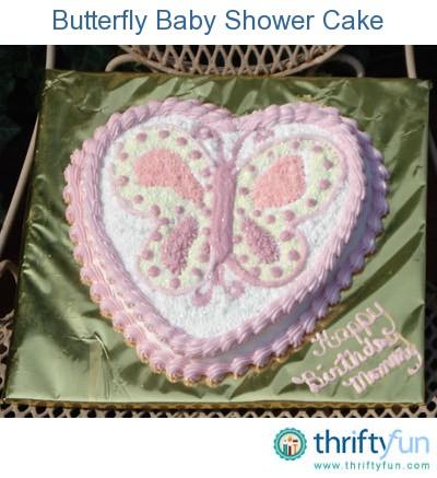 butterfly baby shower cake thriftyfun