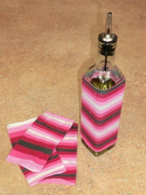 Making an Oil Bottle Drip Cover