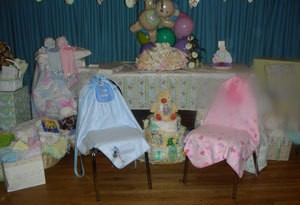 girl baby shower chair decorations baby shower decorating ideas
