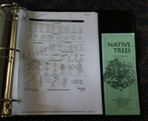 Leaf dichotomous key and flyer in binder.