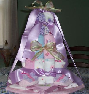 variation on diaper cake