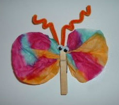 Coffee Filter Butterfly Magnets