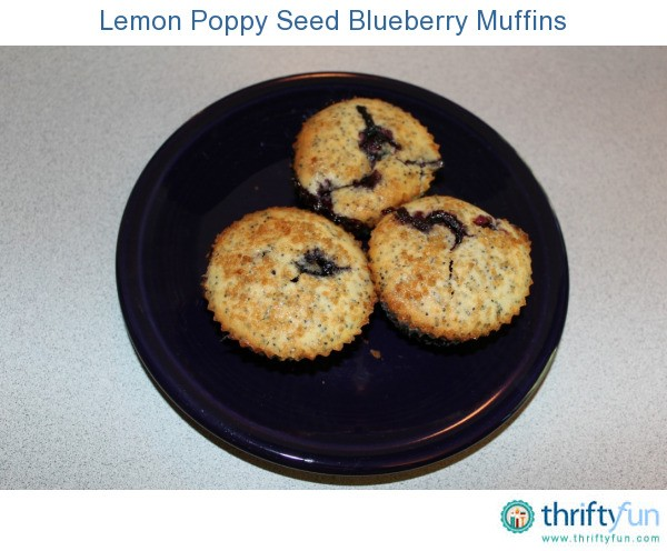 Lemon Poppy Seed Blueberry Muffins   ThriftyFun