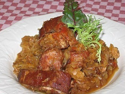 A plate of Polish Bigos