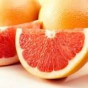 cut grapefruit