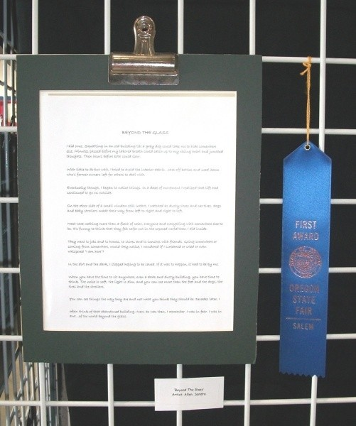 Blue Ribbon At The State Fair