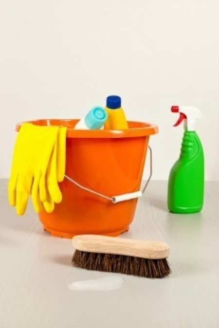Photo of cleaning supplies.
