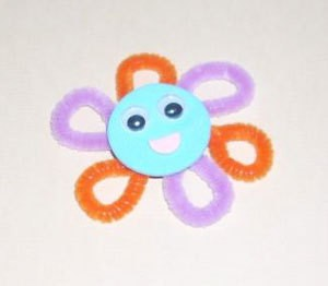 Flower face magnets.