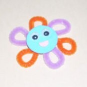 Flower face magnets