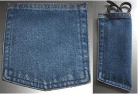 Jeans pocket scissors pouch.