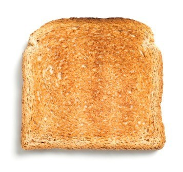 A piece of golden brown toast.