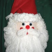 A bleach bottle Santa craft.