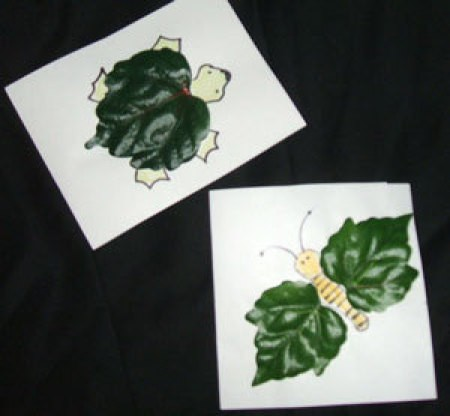 Creatures made from leaves.