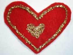 Heart with glitter.