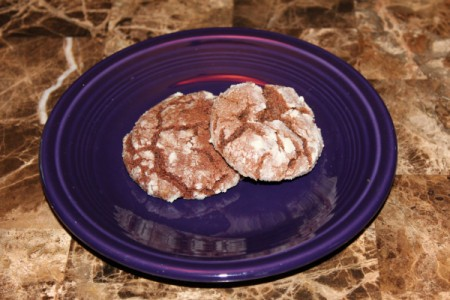 Chocolate Crackled Cookies