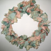 Coat Hanger Cloth Wreath